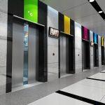 Các tòa nhà chung cư xây mới đều được lắp thang máy