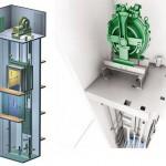 Thang máy có phòng máy sử dụng động cơ không hộp số